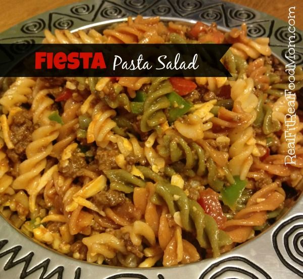 Western Salad Dishes: Fiesta Pasta Salad With Homemade Western Dressing