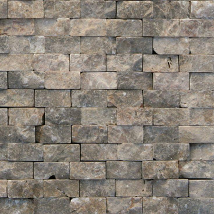 Modern Natural Stone : Shop solistone pack modern brown natural stone mosaic
