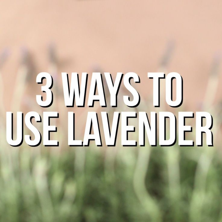 3 Ways to Use Lavender