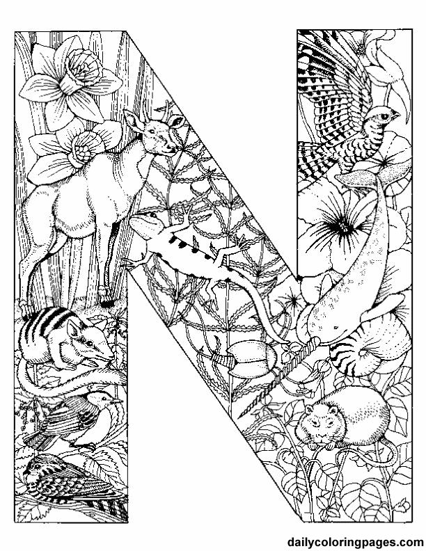 Animal Alphabet Letter Coloring Pages