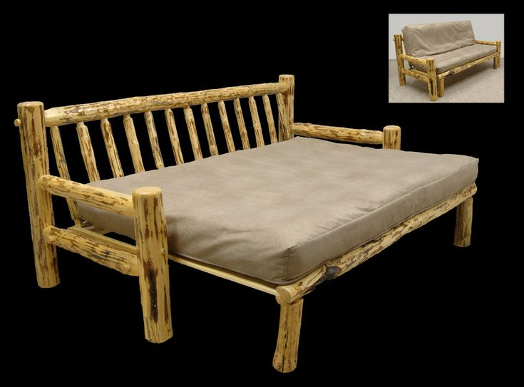Rustic log furniture futon couch rustic homes furniture for Couch 0 interest