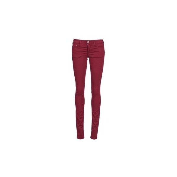 Cimarron CASSIS Trousers ($105) ❤ liked on Polyvore featuring pants, bordeaux, trousers, women, red pants, red trousers and cimarron