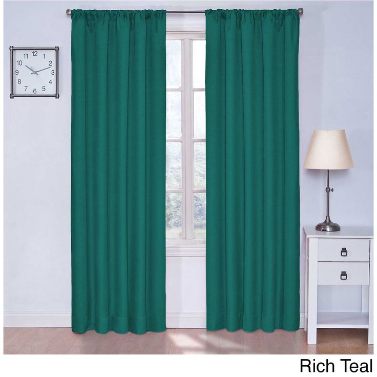 Eclipse Kids Microfiber Blackout Curtain Panel (Rich Teal, 84), Blue, Size 84 Inches (Polyester, Solid)