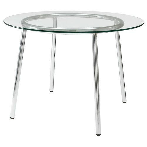 Simple Metal Table Round Glass Table Top