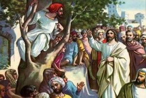 Esboço de pregação  Tema: Desce da árvore  Texto: Lucas 15:1 ao 10  Introdução: Zaqueu e um tipo de pessoa tida por impossível aos homens  1 - Zaqueu procurava ver  Não como curioso, igual a Herodes: Lucas 18: 24 ao 27 Nem como as multidões e incrédulos Mas como a insistência do cego: Lucas 18:41 Sobe na árvore, não se importando com os demais  2 - O convite de Jesus  Olha para cima, sabia quem estava ali Visão espiritual de Cristo sobre nós Deus nos chama a comunhão com Cristo(1º…