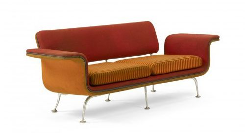 sofa designed by Alexander Girard for Herman Miller
