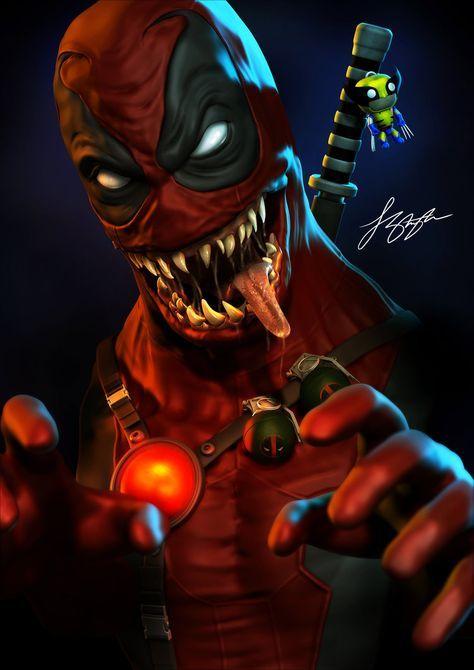 #Deadpool #Fan #Art. (Venompool) By:Liquid-Venom. (THE * 5 * STÅR * ÅWARD * OF * MAJOR ÅWESOMENESS!!!™) [THANK U 4 PINNING!!!<·><]<©>ÅÅÅ+(OB4E)