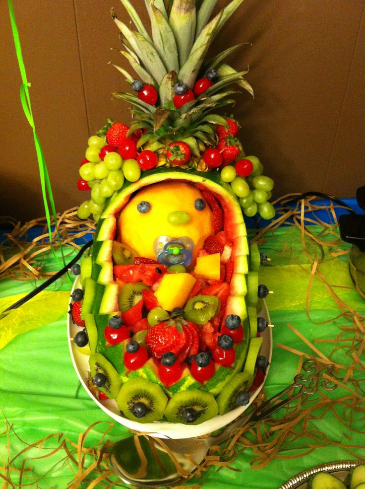 Fruit platter for baby shower baby pinterest baby for Baby shower fruit decoration ideas