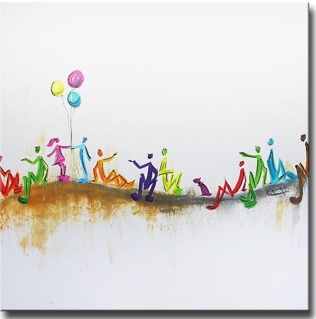 Ines schilderijen zijn vaak abstract geschilderd.Het is echt een specialiteit van Ines