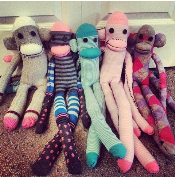 Cuddle Buddy Sock Monkey by TinnieMTreasures on Etsy