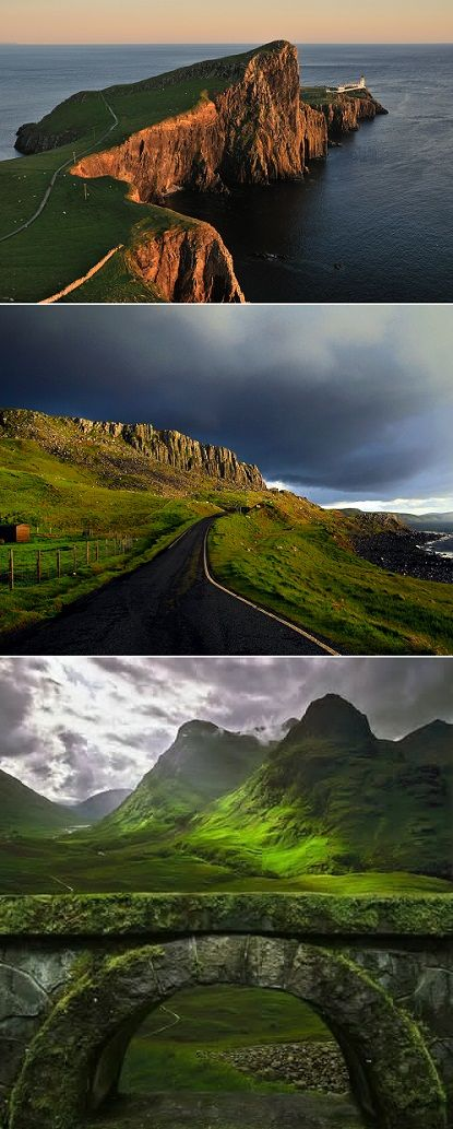 The 'cloudy island,' aka Isle of Skye-Scotland. One of the most beautiful places on earth!