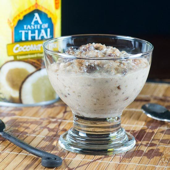 Rich, creamy coconut and raisin pudding made with sorghum ...