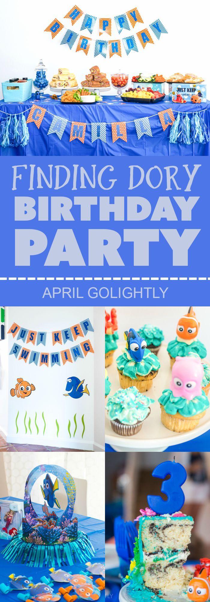 Idéias e plano de festa de aniversário Dory   – Shower & Party Ideas