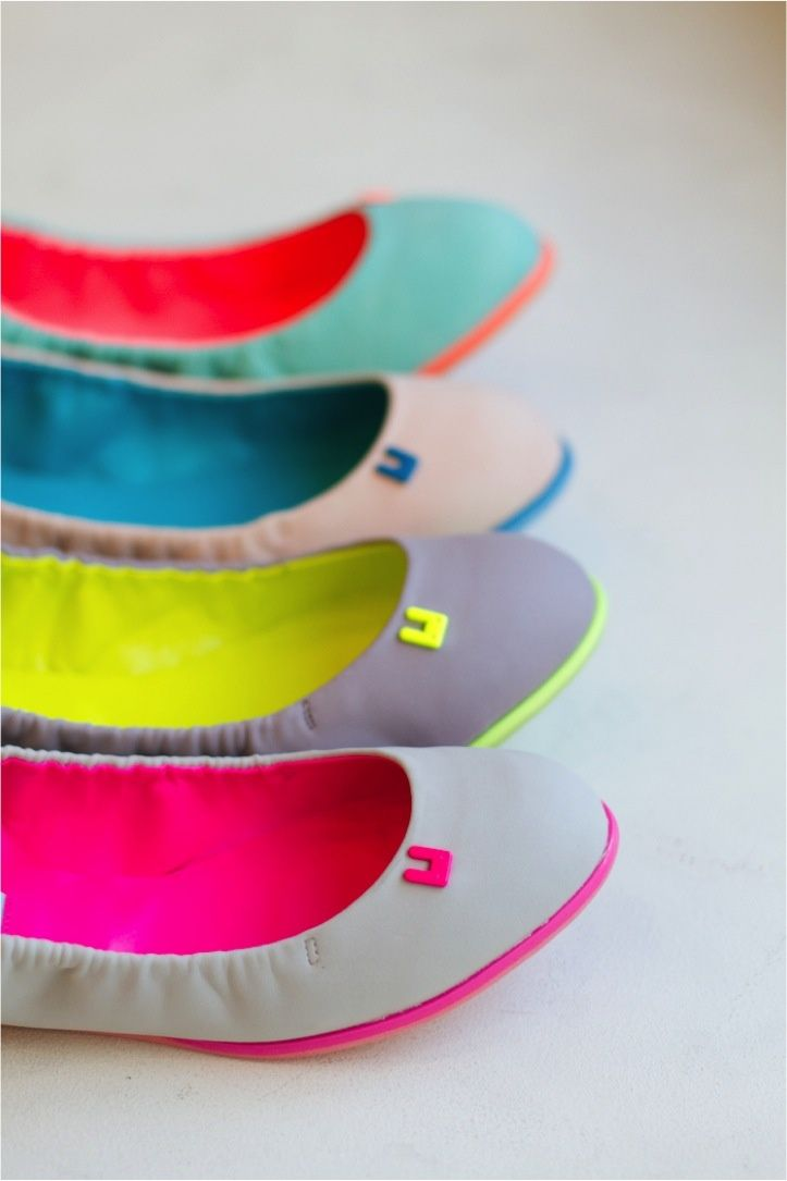 neon flats! lovely pops of color  elfsacks. These are great.....simple ....pretty ...comfortable I Want these soooooo bad