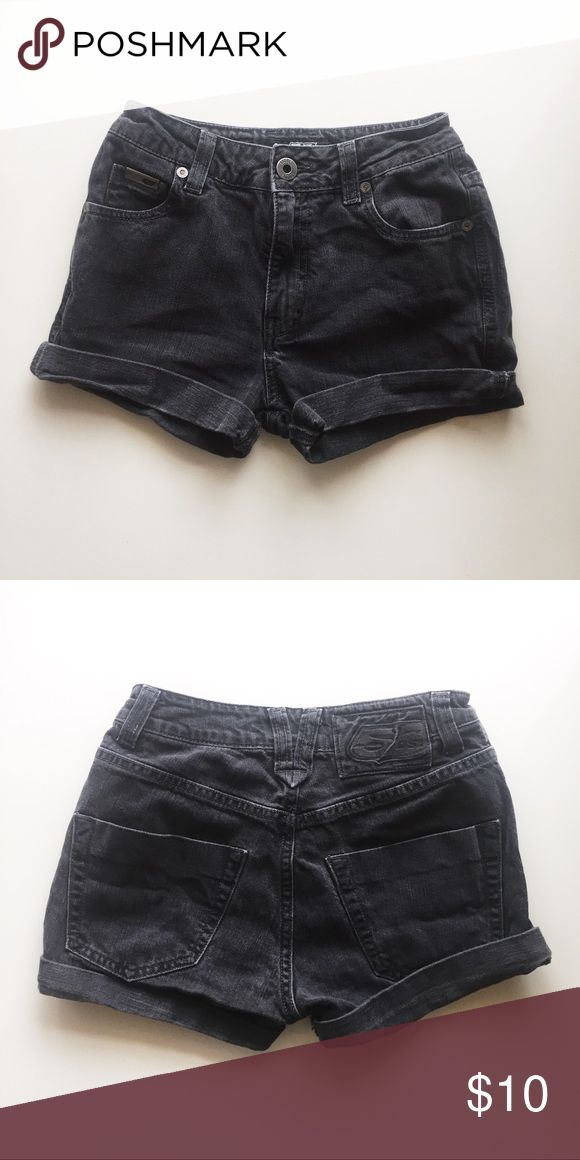 "FINAL PRICE DROP • High rise cuffed denim shorts Tag reads size 26. Brand is 55DSL from Diesel. Cuffs are not sewed in, you can uncuff and make adjustments if needed. Faded black color. Silver hardware. Functional pockets. Measurements below are with the legs cuffed.  98% cotton, 2% elastane. 10"" outseam, 2"" inseam, 9"" rise. Diesel Shorts Jean Shorts"