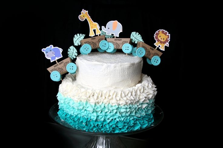 Baby Boy One Year Birthday Cake Topper By Denna S Ideas
