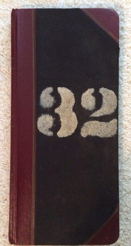 1957 Book of Patient Records, Essex County NJ, Overbrook Asylum