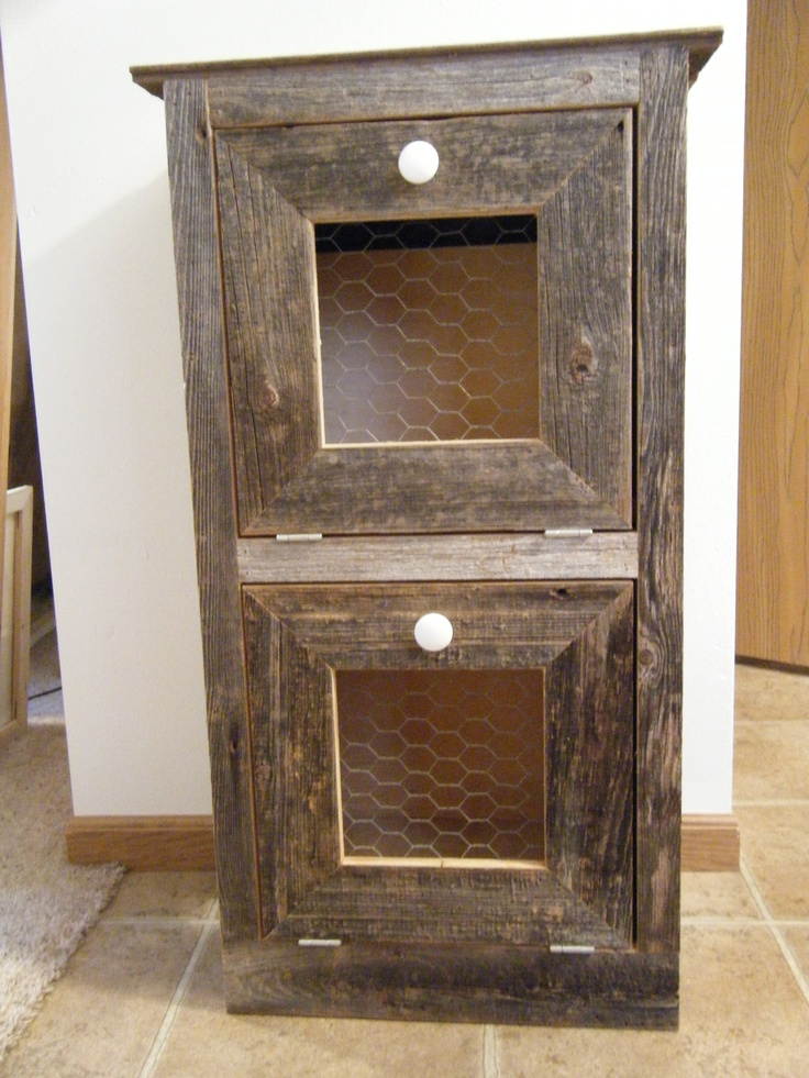 Barn Board Kitchen Cabinet