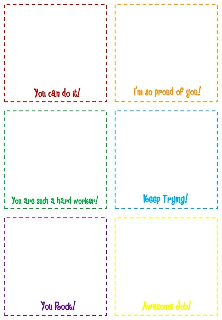 30 best images about Schoolio Positive Notes Printables on – Sticky Note Template