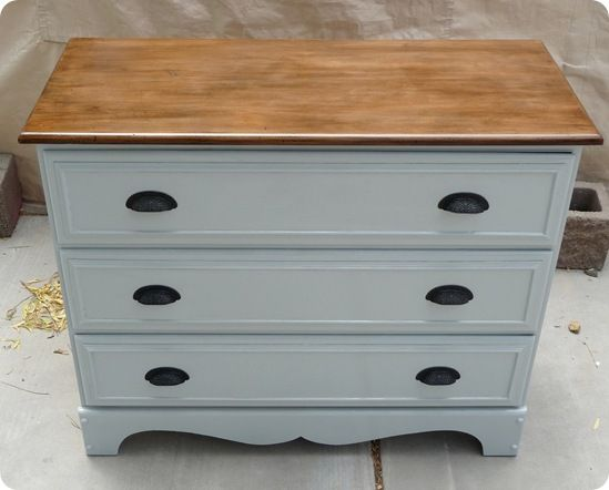 Dresser makeover: This is a really good post with a lot of good information in it. How easy it is to strip furniture, how to recover or makeover faux drawer fronts, & lots of misc. furniture refinishing tidbits.