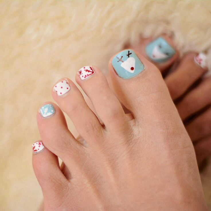 Toe Nail Art Holidays: 17 Best Images About Holiday Pedicures On Pinterest