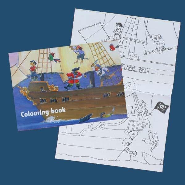 Livre de coloriages grand format Pirates - CREAKIT Loisirs Créatifs