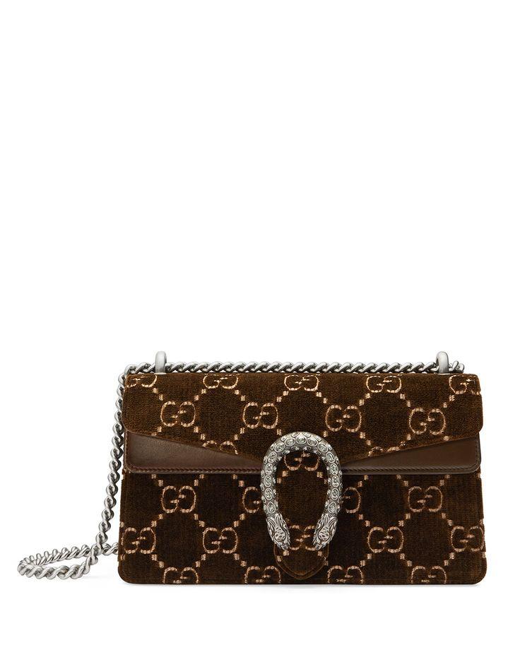 Gucci Dionysus Small GG Supreme Velvet Shoulder Bag