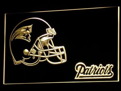 New England Patriots Helmet LED Neon Sign