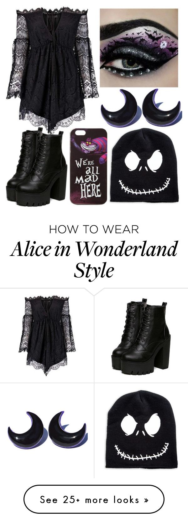 """Spooky Look"" by rita-semedo on Polyvore featuring Anja and Disney"