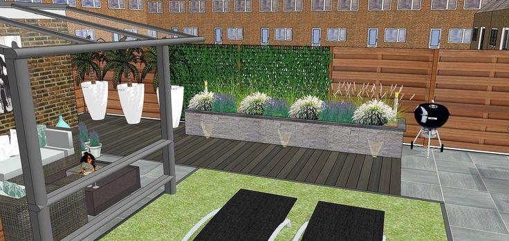 17 beste idee n over achtertuin ontwerpen op pinterest achtertuin patio patiodesign en - Bank voor pergola ...