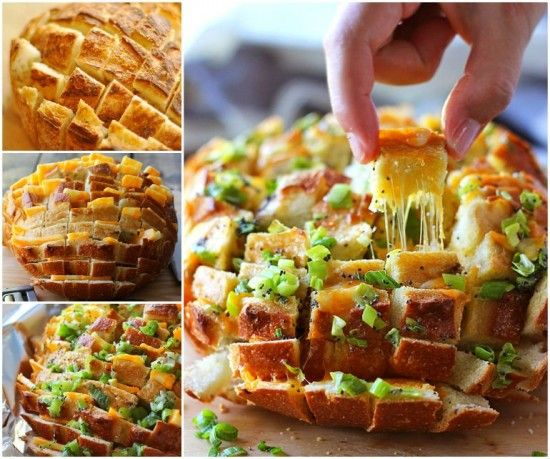 All you need is 15 minutes preparation to put together this Blooming Onion Bread.