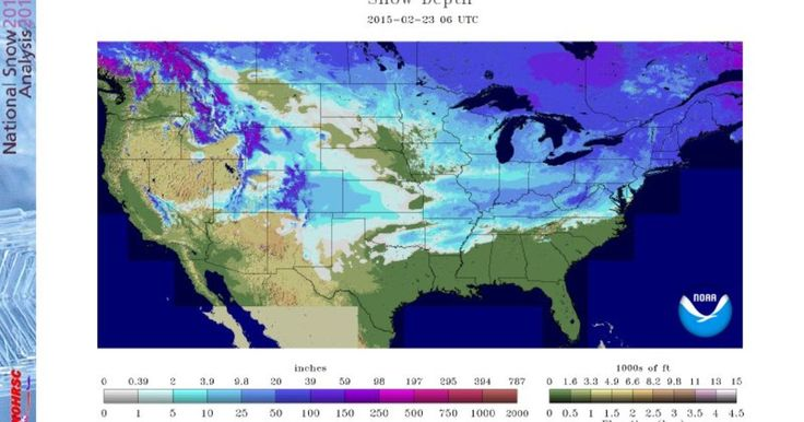 As record lows are being set across the Nation...According to three separate national snow cover maps, snow is on the ground in at least 48 of 50 U.S. states.