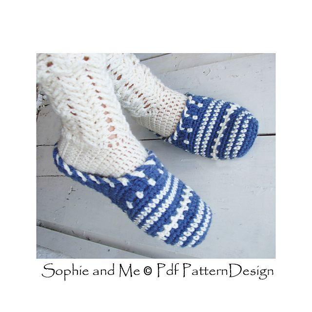 Sweater Clog Slip-In Slippers Crochet Pattern. The Basics.