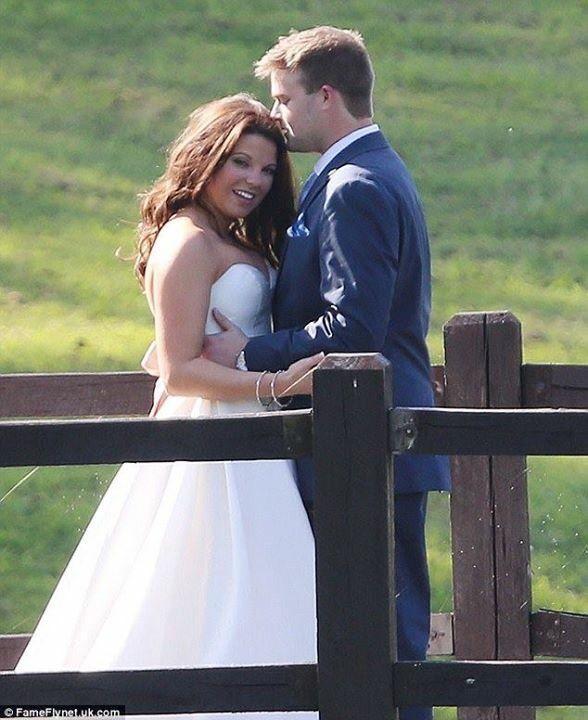 Dillion and Cousin Amy (Duggar) King on their wedding day. Labor Day weekend 2015. #Duggars #Kings #19KidsAndCounting
