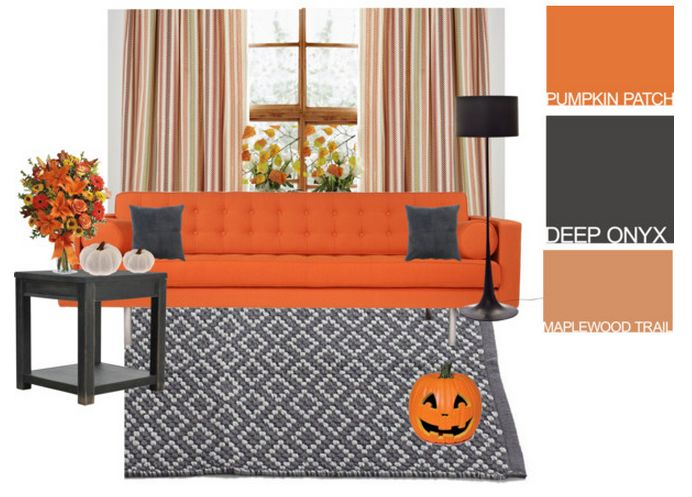 Get pumpkin spiced inspiration for your living room check for Pumpkin spice paint living room