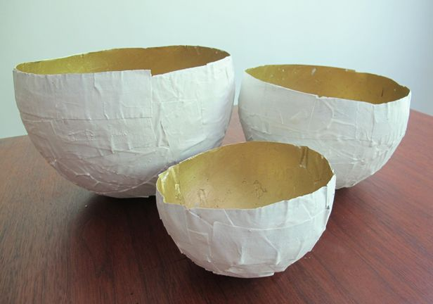 ... Paper Bowls Using Plaster of Paris   Made + Remade   Plaster