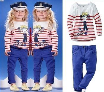 костюмчик для девочки в морском стиле :: костюмы с длинным рукавом :: костюмы для девочек :: девочкам :: Детская одежда :: Для детей