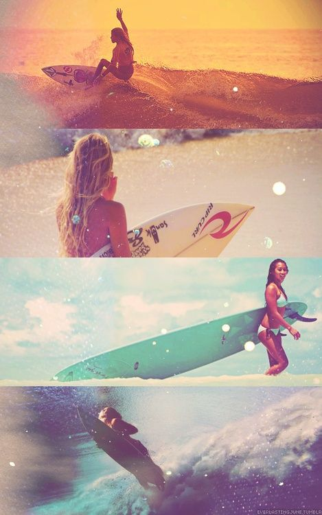 Ich will Meer ♡ girls surfing at the seaside