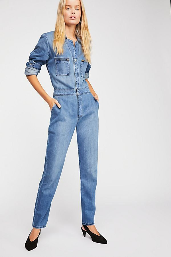 df36ba57f26d Lee Union Coverall - Denim Blue Jean Long Sleeve One-Piece Coveralls