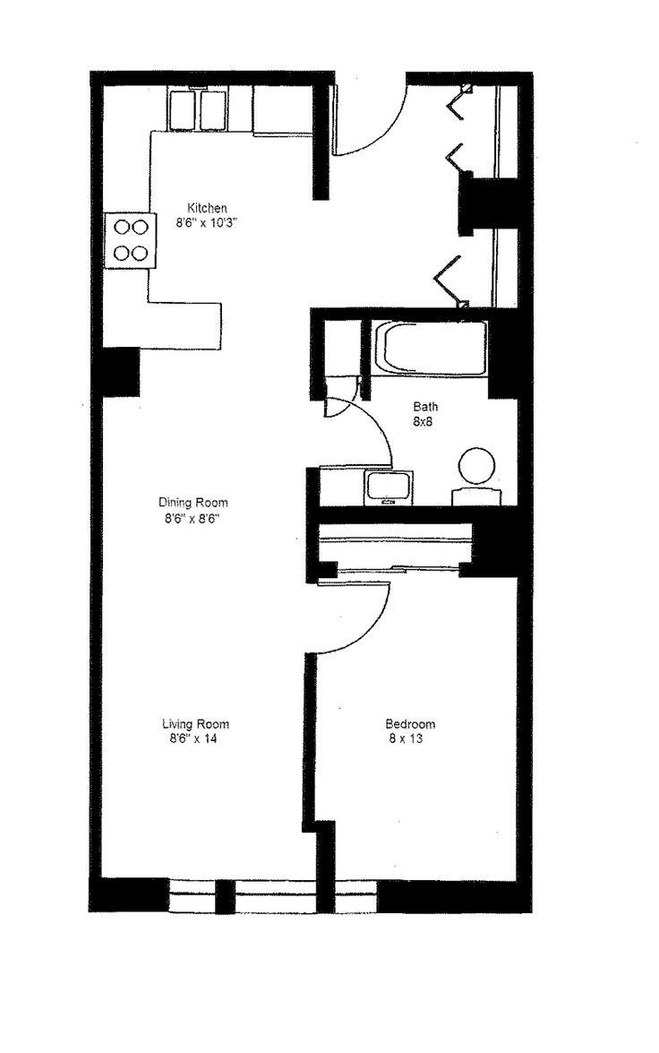 1 Bedroom Large Floor Plan 3