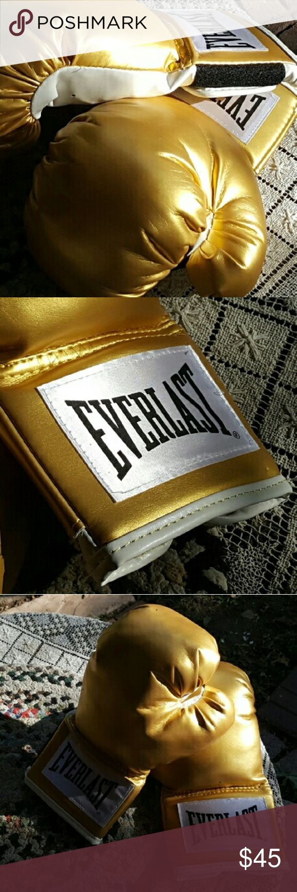 Everlast Boxing Gloves Gold, white, and Packing a Punch! ?? Everlast Other