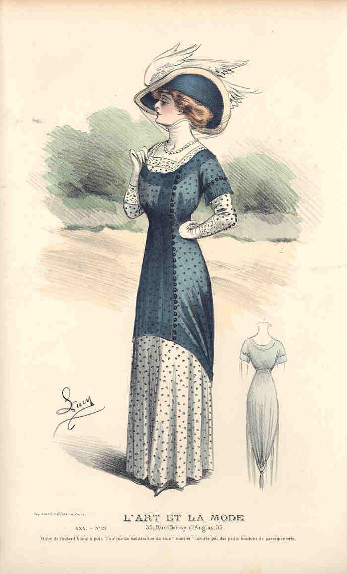 16 best Fashion 1909: Splendid Old Vintage Engraving ... - photo#35
