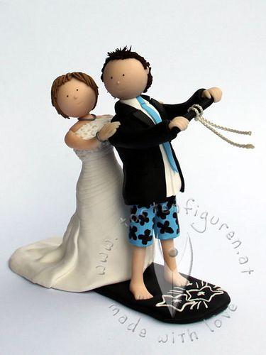 Kitesurf Brautpaar von www.tortenfiguren.at - Kitesurfing Wedding Cake Topper
