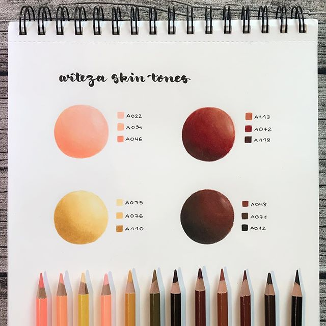 Arteza Skin Tones Using Arteza Colored Pencils Created By Josilix