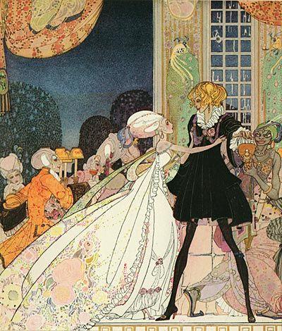 twelveofdecember: Illustration for The Twelve Dancing Princesses, by Kay Nielsen.