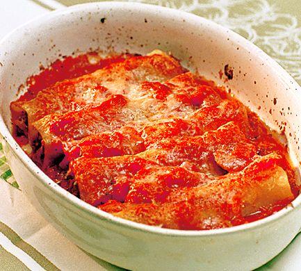 Köttfärsfyllda cannelloni