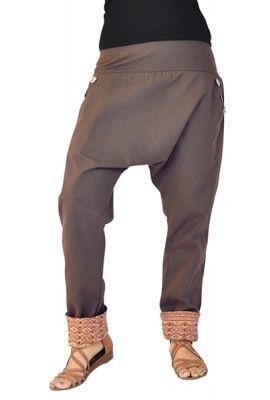 Pantaloni cavallo basso Pai marrone