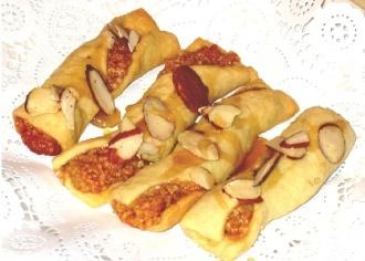 fasciatelle, Sicilian Almond Filled Cookies