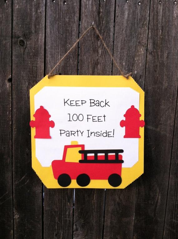 Firetruck/Firefighter/Dalmatian Theme Door Sign by PoppopsPeanut, $12.50