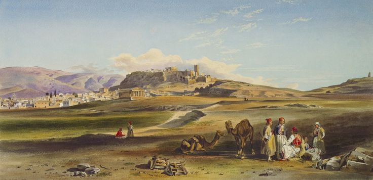 Thomas Hartley Cromek (1809-73)   Athens with the Parthenon  dated 1850